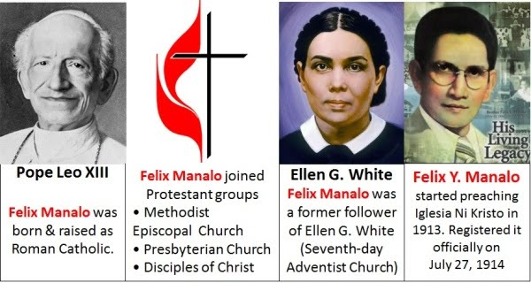 Felix Y. Manalo joined different religions before realizing he is an angel sent from heaven to form Iglesia Ni Cristo in the Philippines