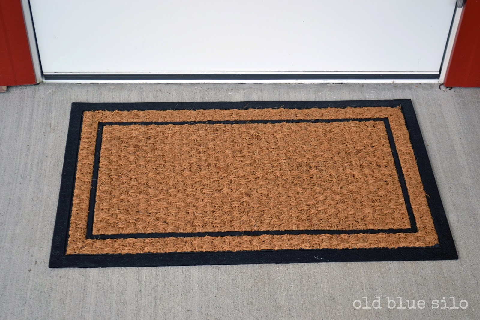 old blue silo diy custom front door mat. Black Bedroom Furniture Sets. Home Design Ideas