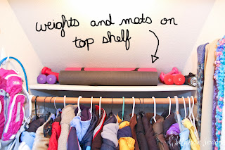 other items can be stored on the top shelf away from little hands