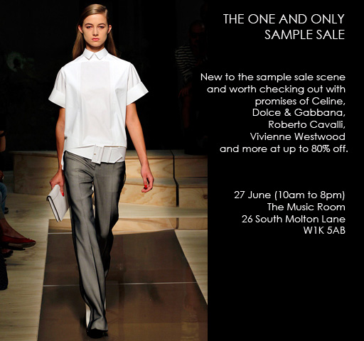 The One and Only sample sale