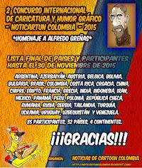 LISTA FINAL DE PARTICIPANTES DEL 2 CONCURSO INTERNACIONAL DE CARICATURA Y HUMOR GRAFICO