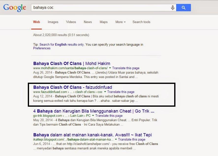 Tersenarai Dalam Halaman Utama Google com