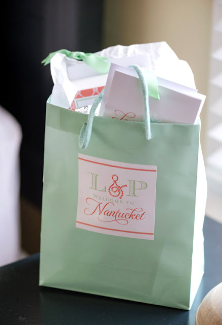 Nautical Nantucket Wedding Welcome Bag
