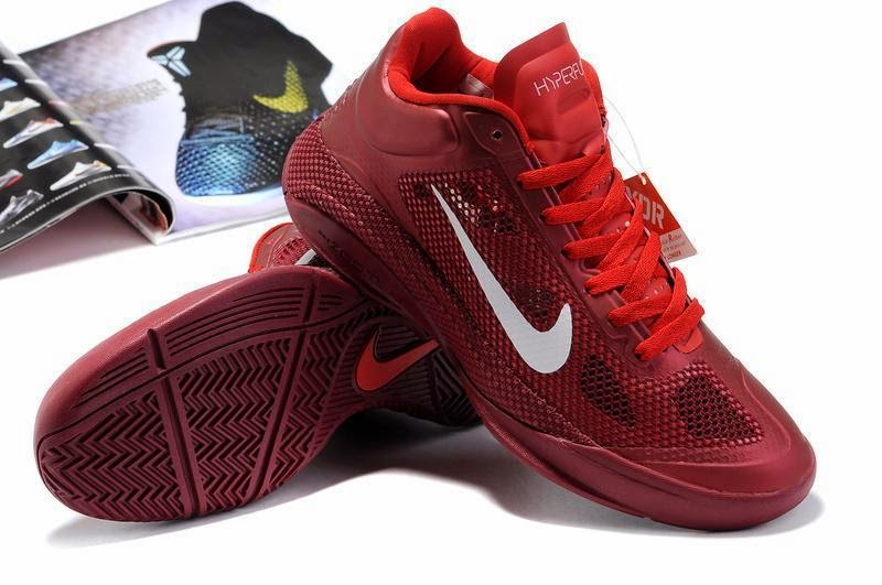 Cheap Nike Zoom Hyperfuse Low Cut Basketball Basketball Shoes Red