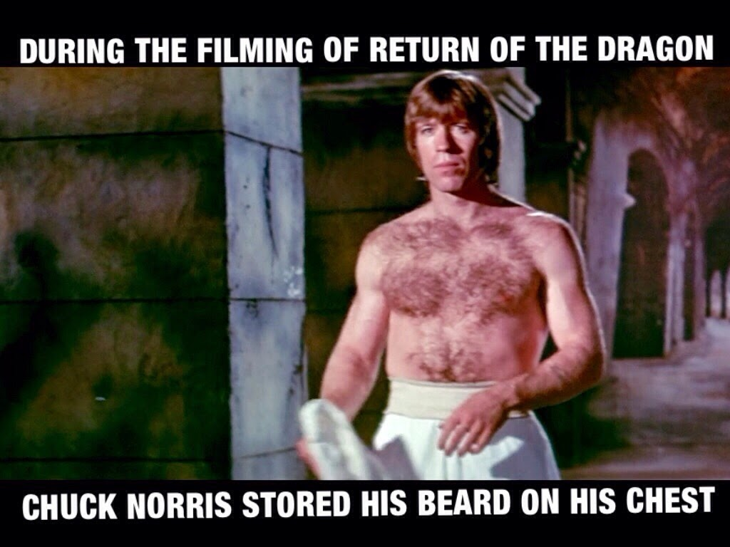 during the filming of return of the dragon  chuck norris