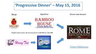 Progressive Dinner May 15