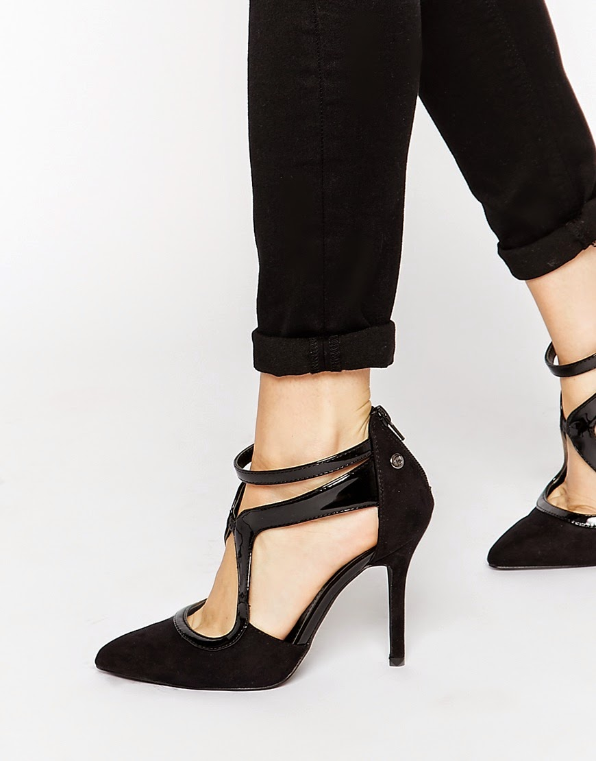 blink strappy shoes, blink black strap shoes, asymmetric black shoes,