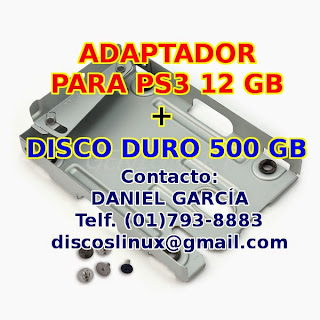 disco duro 500gb para PS3 super slim 12gb con adaptador soporte caddy case, mounting bracket