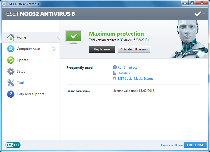 Eset NOD32 6 Windows Full Sürüm İndir