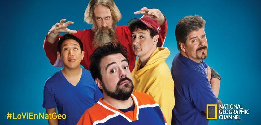Poster, foto oficial de la serie de television de Nat Geo, Los Superheroes del comic 2014 | Ximinia