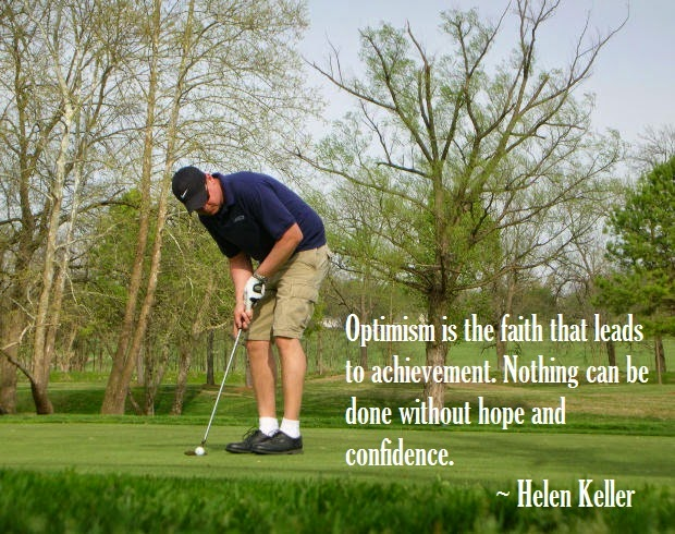 Golfer and Quote