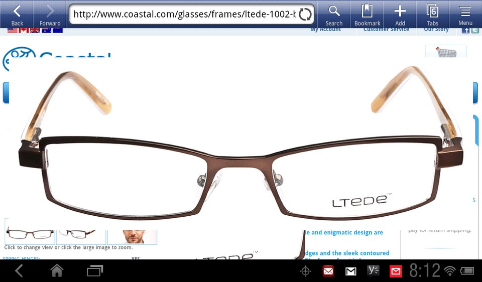 8216015c60 I ordered a pair for my son for his backup eyeglasses. I searched for a  frame that looked similar to the one I just ordered for him on EyeBuyDirect  and ...