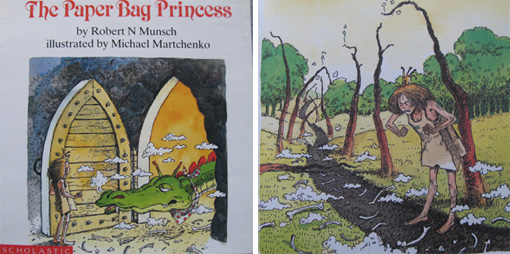 Paper Bag Princess Book Cover : Threading my way the paper bag princess
