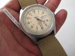 SOLD SEIKO MILITARY CREAM BIG DIAL - AUTOMATIC 7S36