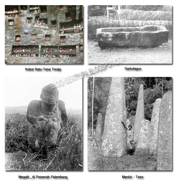 Sejarah Senirupa Indonesia Zaman Prasejarah Kubur Batu, Sarkofagus, Menhir, megalit