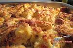 Tortellinis gratinados com tâmaras e queijo de cabra