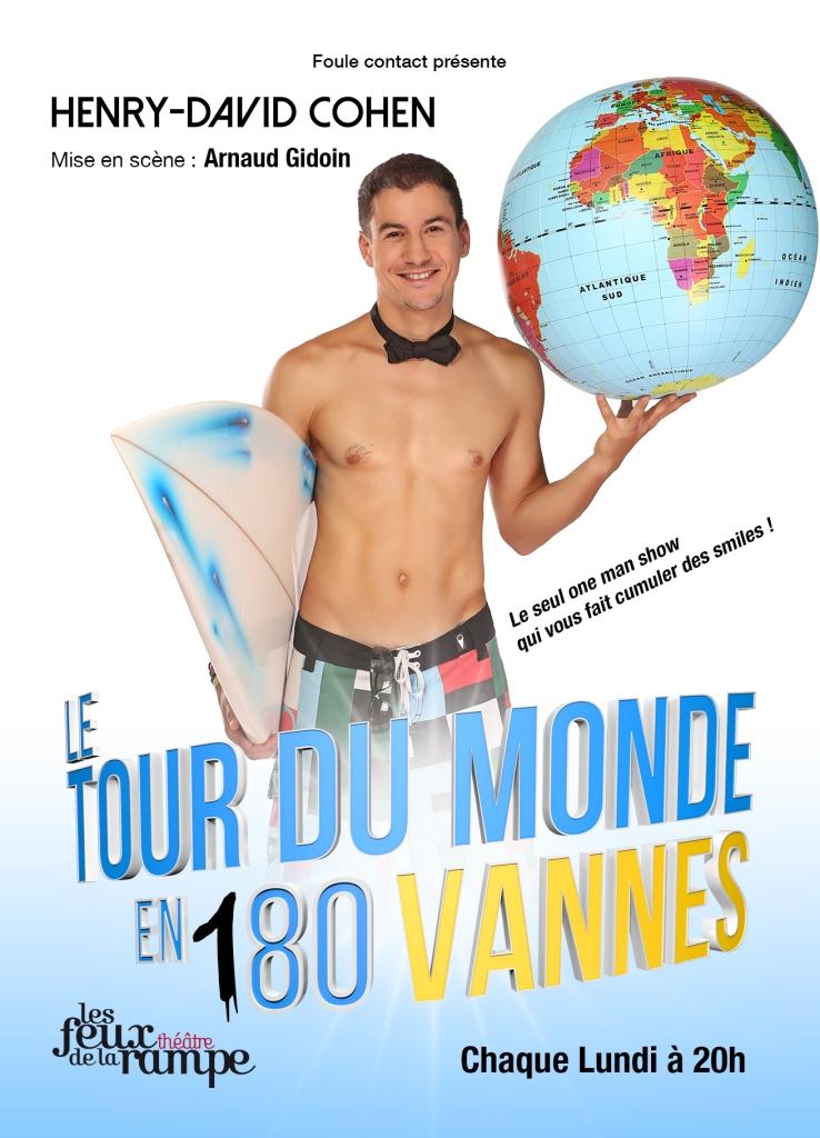 Le tour du monde en 180 vannes d'Henry-David Cohen