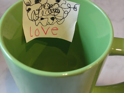 tea cup with mother's day note