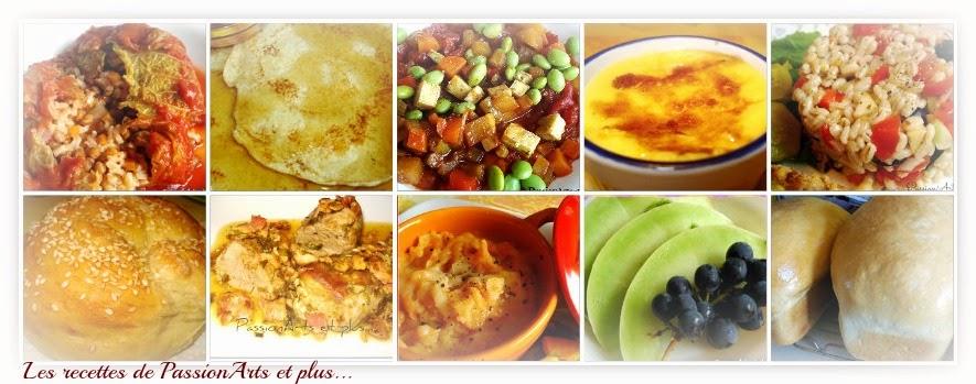 Les recettes de Passionarts et plus...