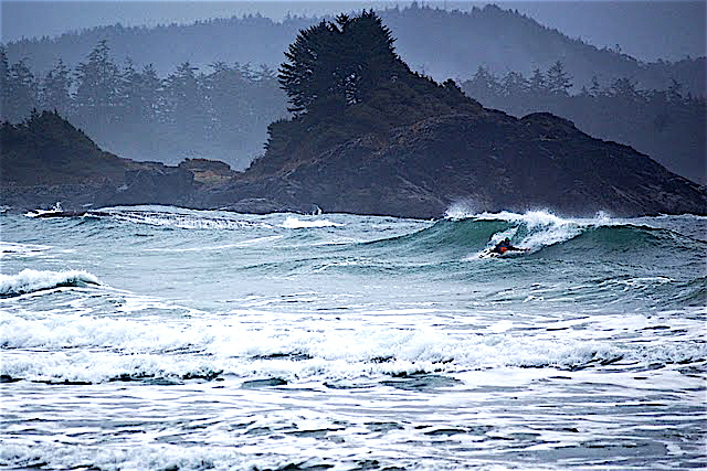 Surfing Short Boats In Tofino BC