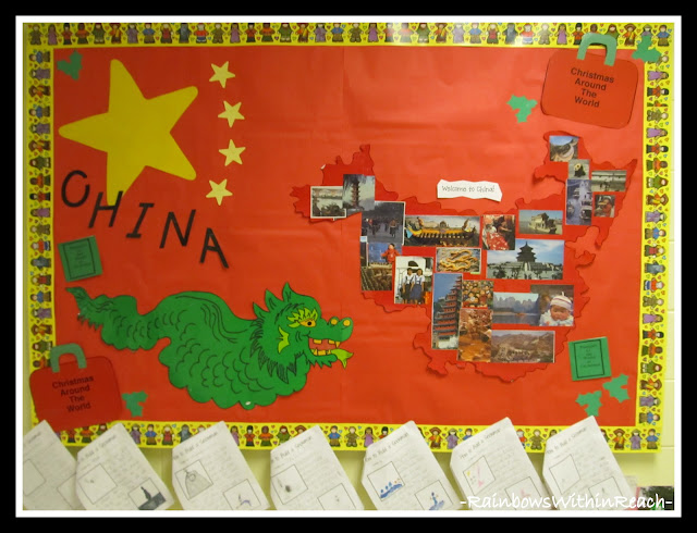 photo of: China Bulletin Board for Christmas Around the World (Christmas Bulletin Board RoundUP via RainbowsWithinReach)
