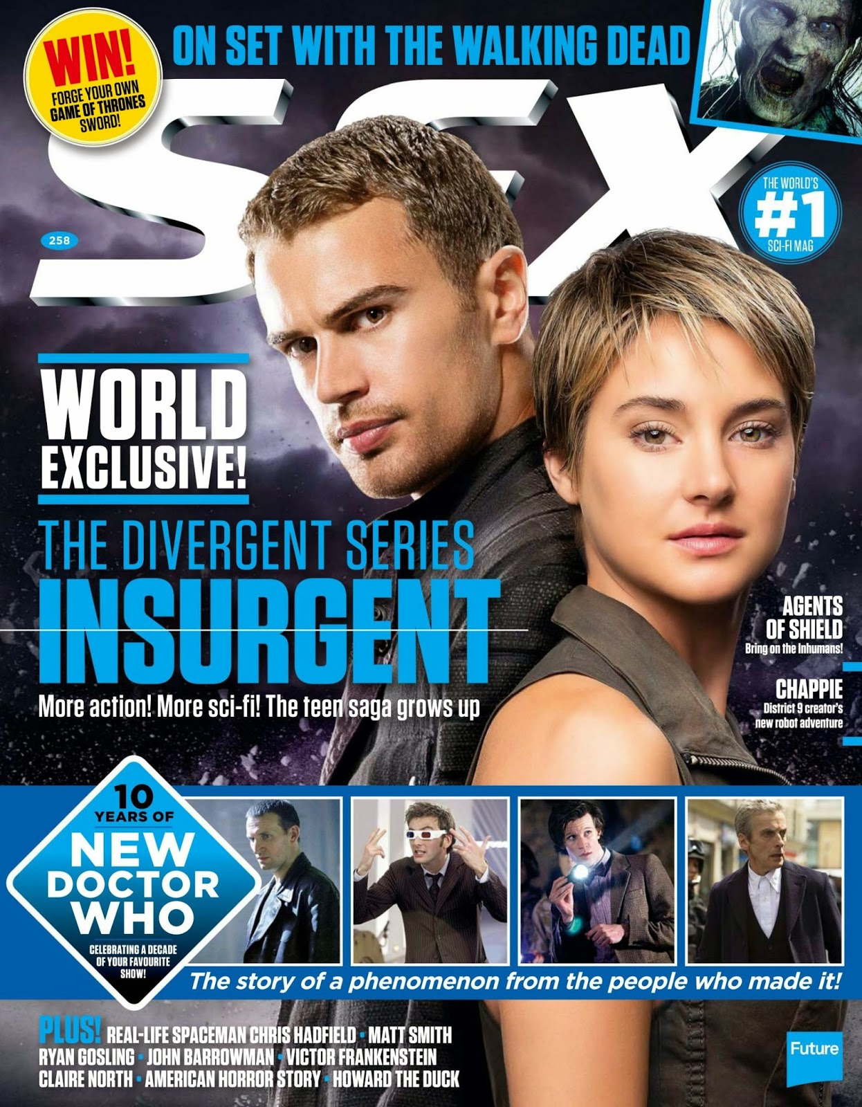 Actress: Theo James and Shailene Woodley For SFX UK