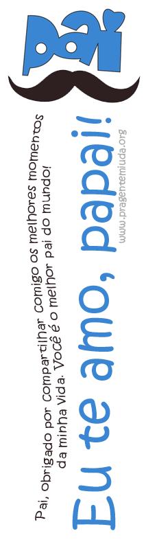 marca paginas dia dos pais para imprimir
