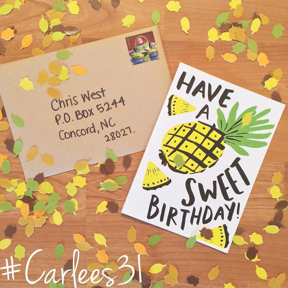 Be the change carlees31 recap day 1 mailed a birthday card to a 16 year old cancer patient bookmarktalkfo Image collections