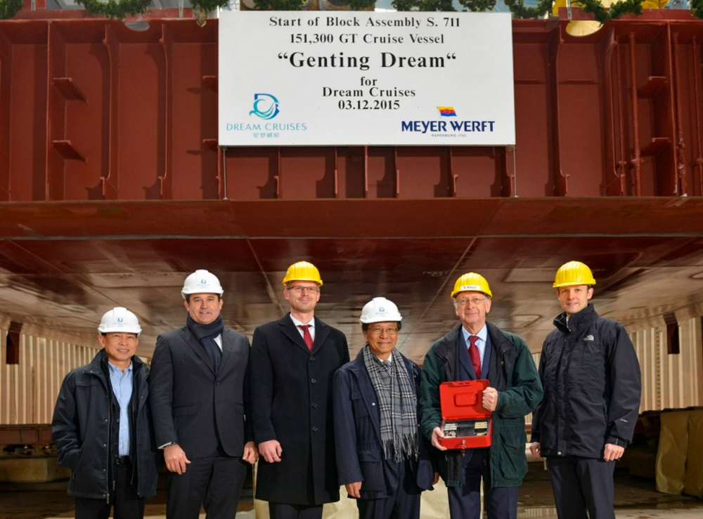 Genting Dream Keel Laid
