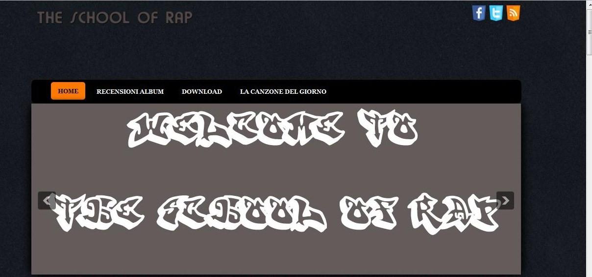 Nuovo design per il sito the school of rap for Nuovo design del paesaggio inghilterra
