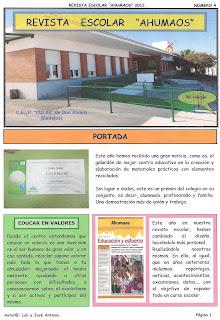 """Revista escolar """"Ahumaos"""" nº 4 (2011-2012)"""