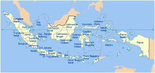 Peta 33 Provinsi di Indonesia