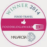 BEST BLOG IN THE FOOD BLOG AWARDS 2014 FOOD, WINE & TRAVEL BLOG CATEGORY