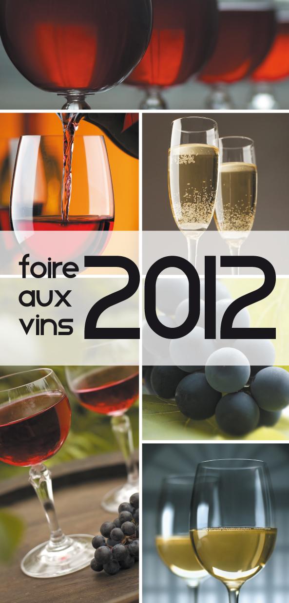 graphiste ind pendante carton invitation foire aux vins 2012. Black Bedroom Furniture Sets. Home Design Ideas