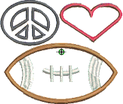 Peace, Love, Football--$18-20