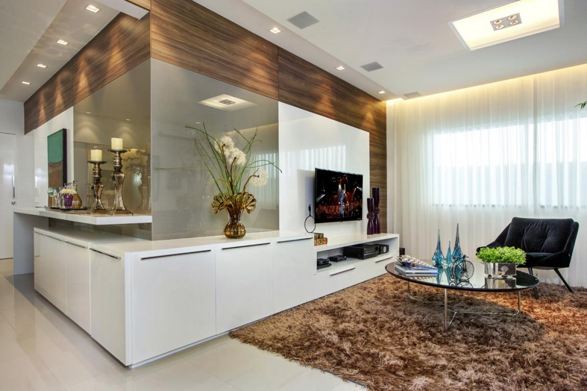 M Vel Dois Em Um Para Sala De Jantar E Tv Veja Timas Ideias Para  -> Sala Branca Com Parede Colorida
