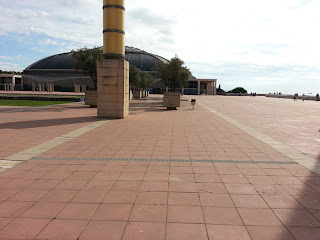 Paved area outside Palau Sant Jordi - Barcelonasights blog