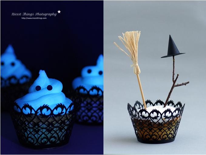 Halloween Cupcakes: Glow In The Dark Cupcakes und Hexen Cupcakes
