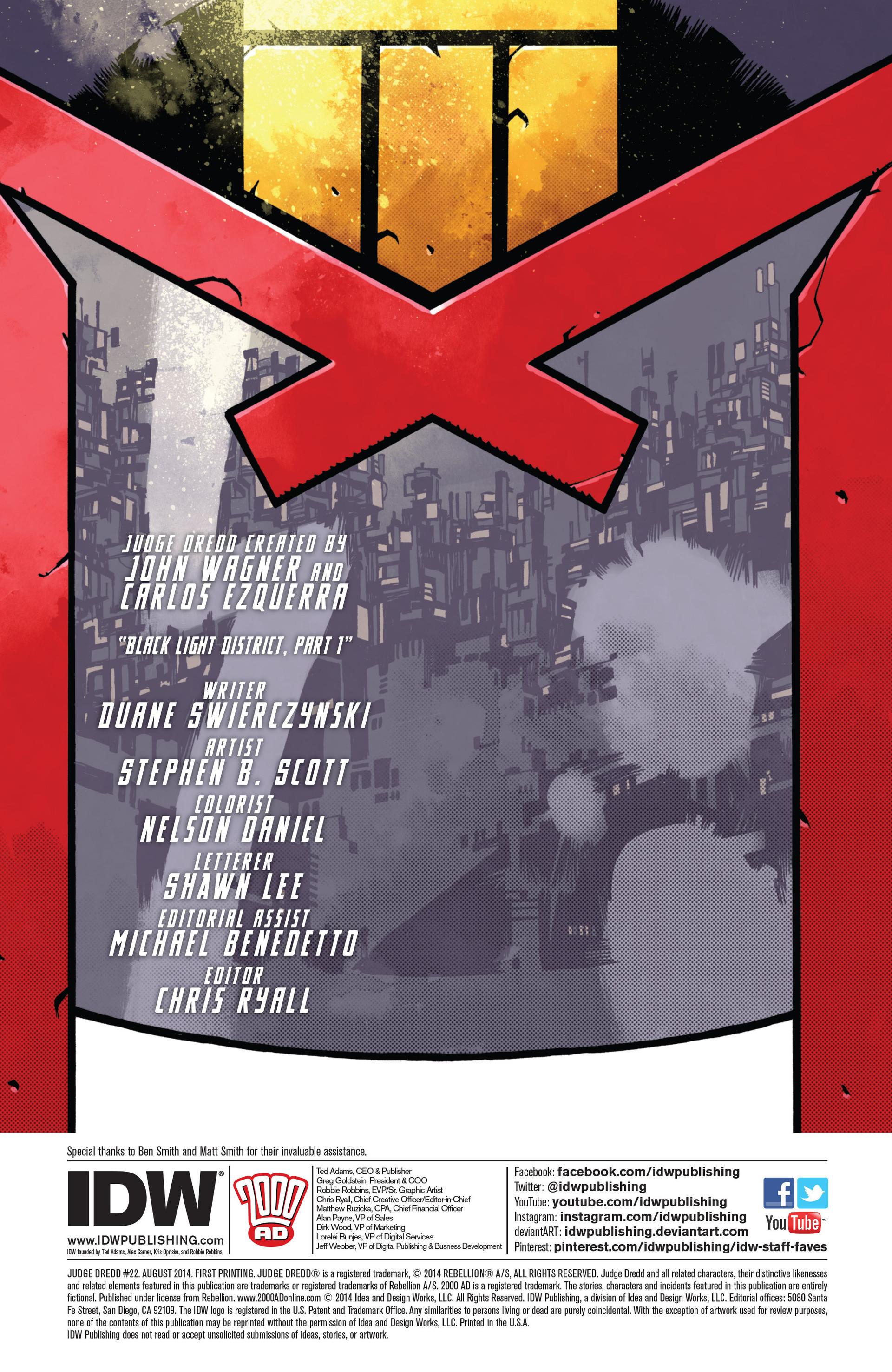 Read online Judge Dredd (2012) comic -  Issue #22 - 2
