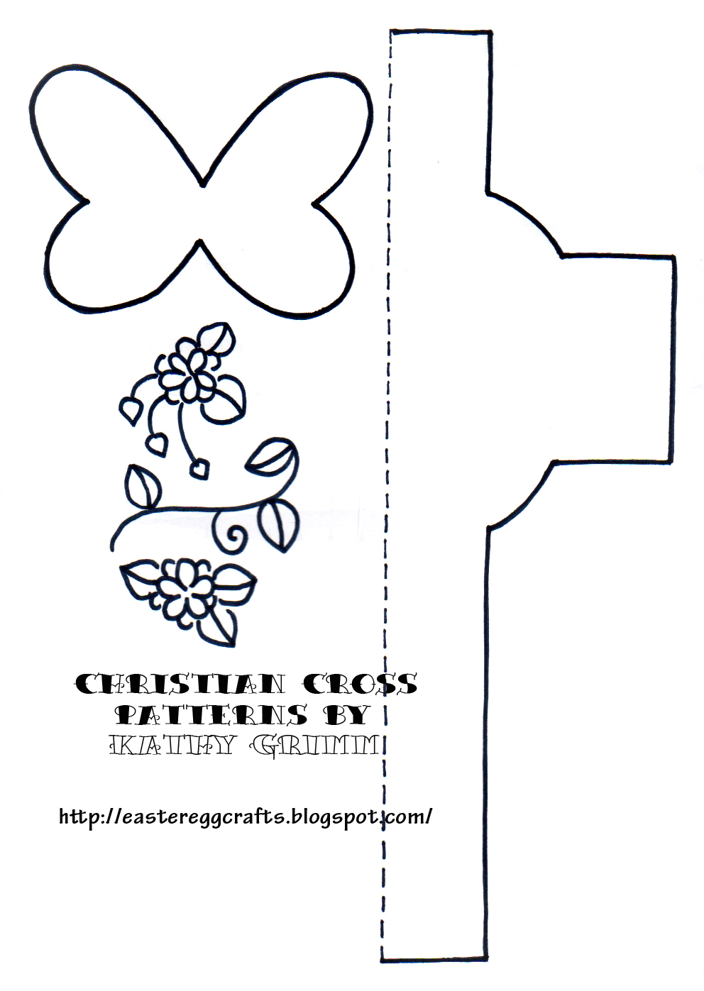 You Will Need To Fold An Additional Piece Of Paper And Place The Dotted Lines Cross Template On