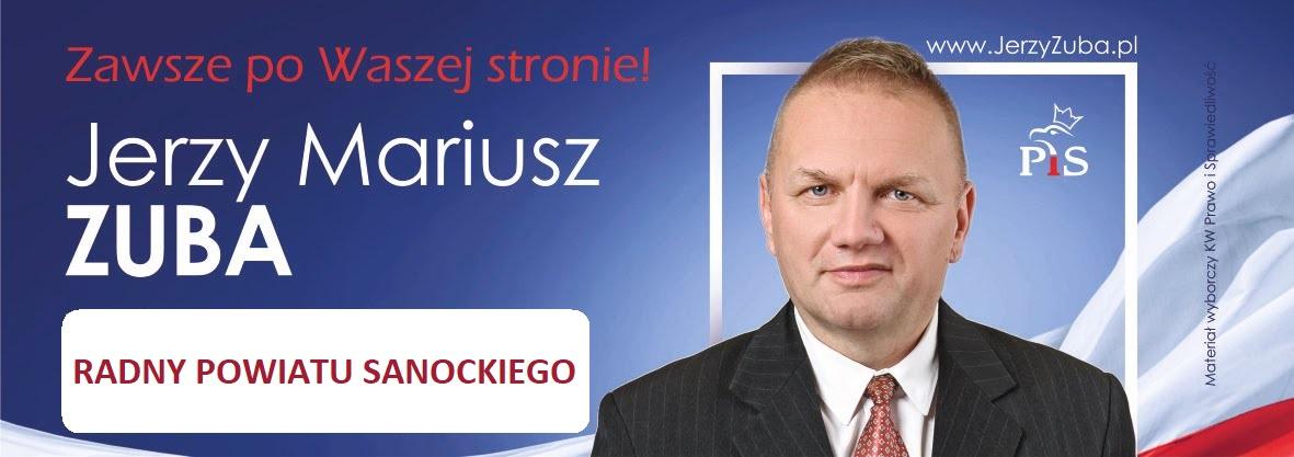 Jerzy Zuba - kandydat do Rady Powiatu Powiatu Sanockiego