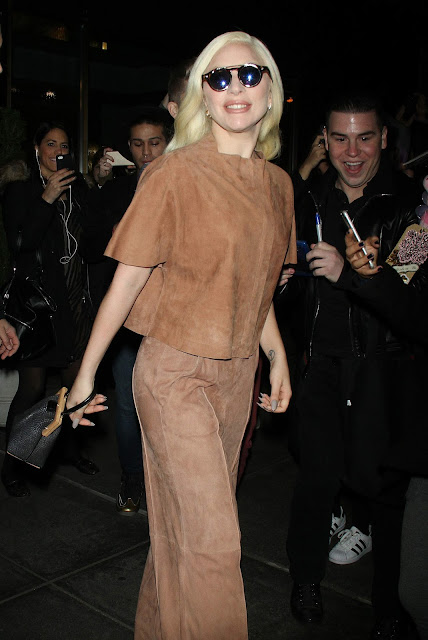 Actress, Singer, @ Lady Gaga Seen leaving her hotel in New York