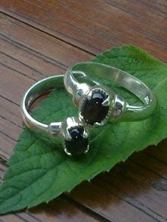 black golden star sapphire