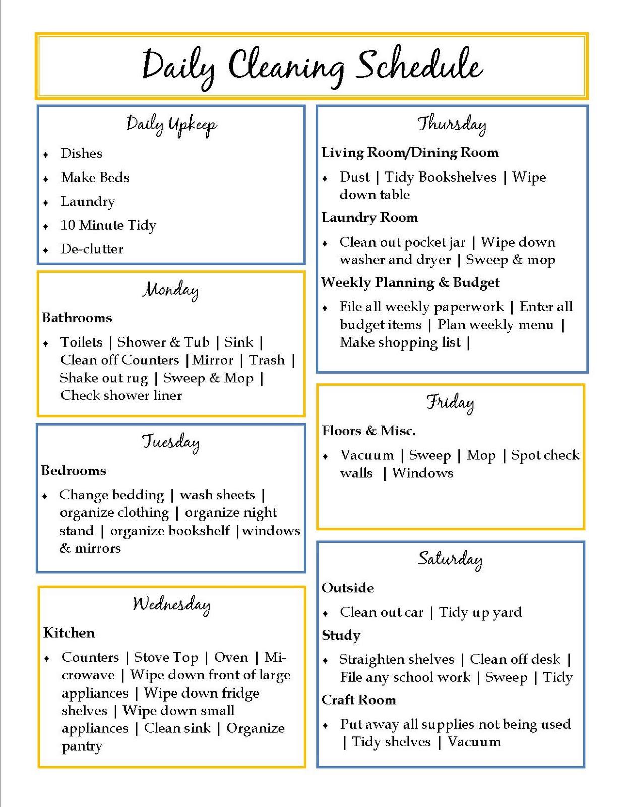 Make schedule