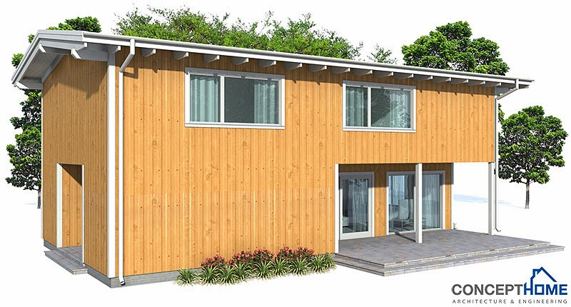 Projetos de casas planta de casa econ mica ch67 for Casa moderna economica