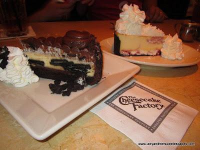 The Cheesecake factory delectable desserts