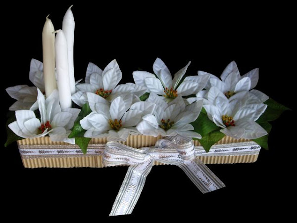Centros de mesa para boda hechos de fomi imagui for Centro mesa navidad manualidades