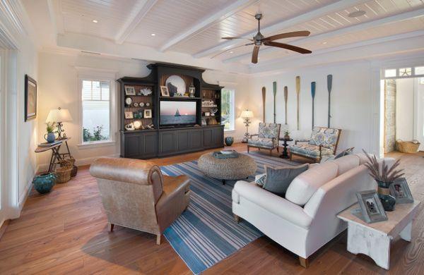 Decorative wooden oars interior design nautical - Florida interior decorating ideas ...