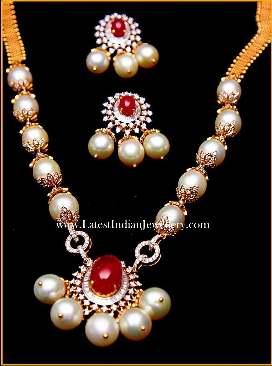 South Sea Pearls Diamond Necklace