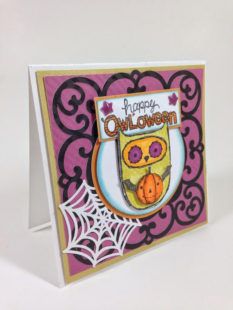 Cricut Artiste 'Owl'oween card sideview